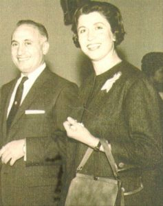Ehsan Yarshater with Latifeh Alvieh, a few months before they married